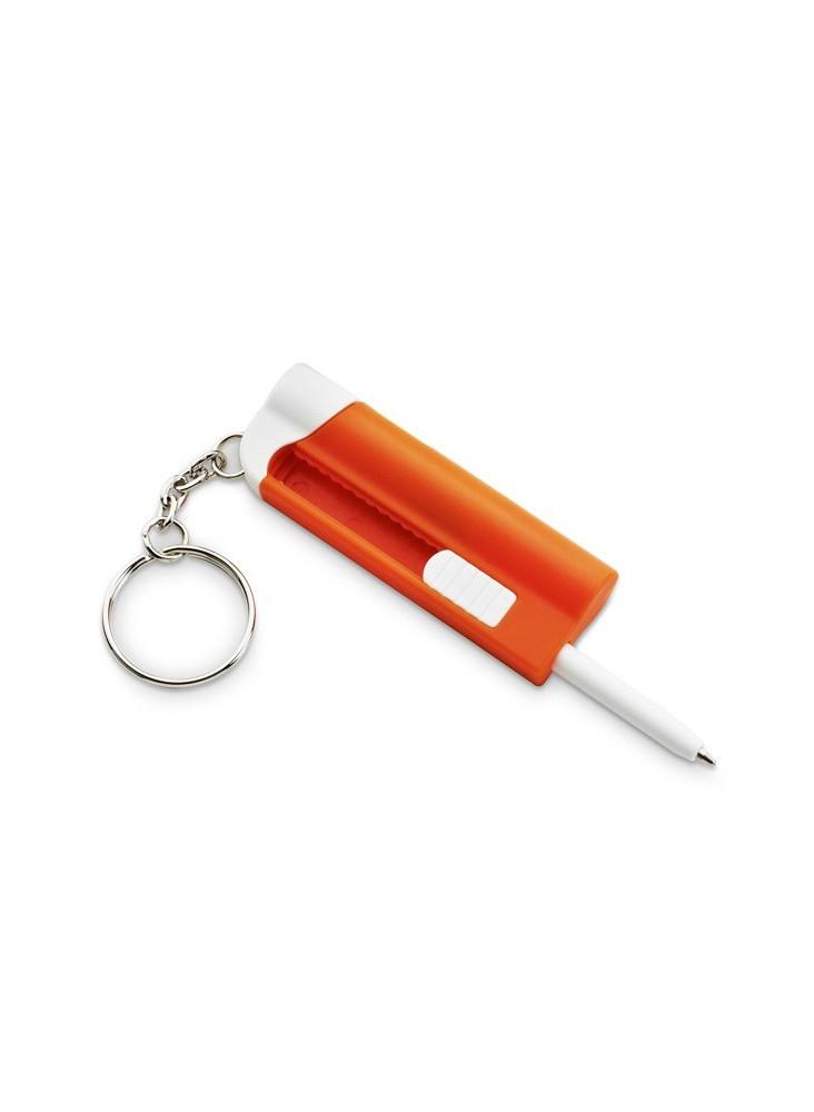 Porte-clés avec stylo à bille LED  publicitaire