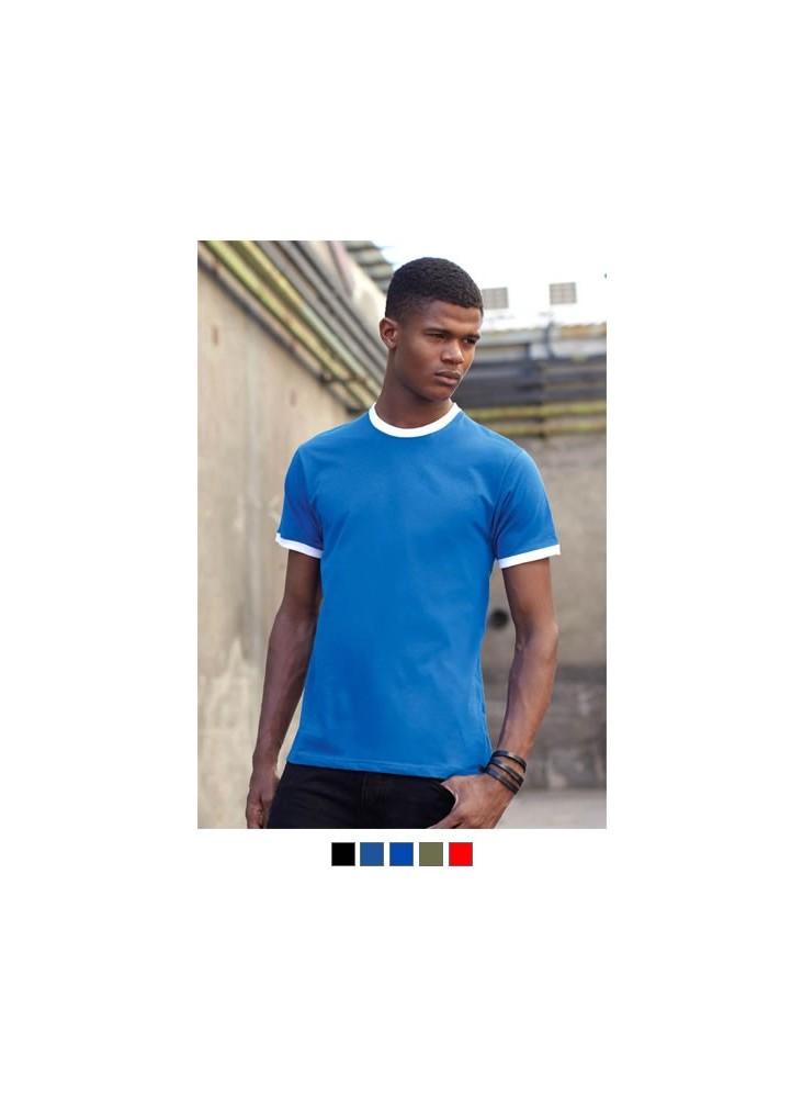 objet publicitaire - promenoch - T-shirt Homme Bicolore 160g  - Tee-shirt Homme M. Courtes