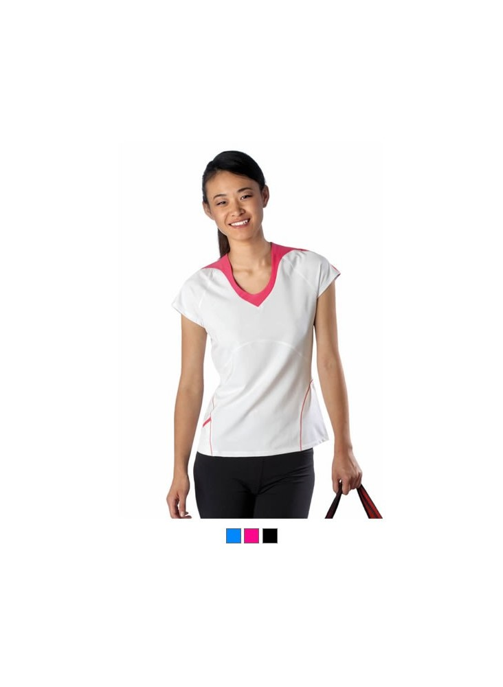 objet publicitaire - promenoch - T-shirt Sport Femme 200g  - Tee-shirt Homme M. Courtes