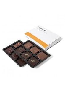 objet publicitaire - promenoch - Boîte 12 Chocolats Personnalisée  - Chocolats Personnalisables