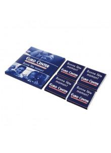 objet publicitaire - promenoch - Boîte 4 Carrés de Chocolat  - Chocolats Personnalisables