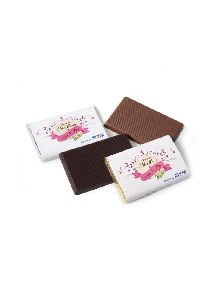 Rectangle de Chocolat Personnalisé  publicitaire