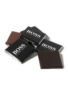 objet publicitaire - promenoch - Carré de Chocolat Personnalisé  - Chocolats Personnalisables