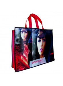 objet publicitaire - promenoch - Sac Shopping et Salon Imp Quadri Recto/Verso  - Sac Shopping & Course
