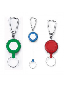 objet publicitaire - promenoch - Porte-badge Mousqueton et Anneau  - Portes-badges personnalisables