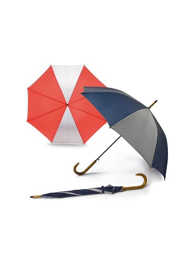 objet publicitaire - promenoch - Parapluie Bicolore Publicitaire.   - Parapluie manche à canne