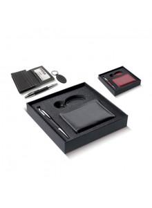 objet publicitaire - promenoch - Set Luxe Stylo Porte-carte et clés  - Stylo Parure Coffret