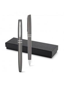 objet publicitaire - promenoch - Parure 2 Stylos Aluminium  - Stylo Parure Coffret