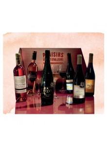 objet publicitaire - promenoch - Coffret 6 Bouteilles de Vin  - Panier Gourmand