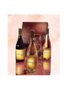 objet publicitaire - promenoch - Coffret 3 Vins Harmonie  - Panier Gourmand