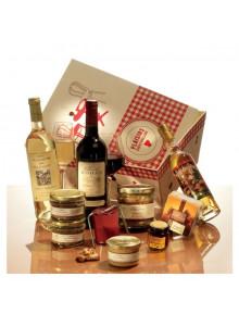 objet publicitaire - promenoch - Panier Gourmand L'Instant Authentique  - Panier Gourmand