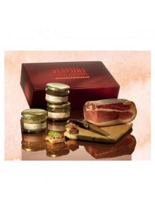objet publicitaire - promenoch - Panier Gourmand Terrines et Jambons  - Panier Gourmand