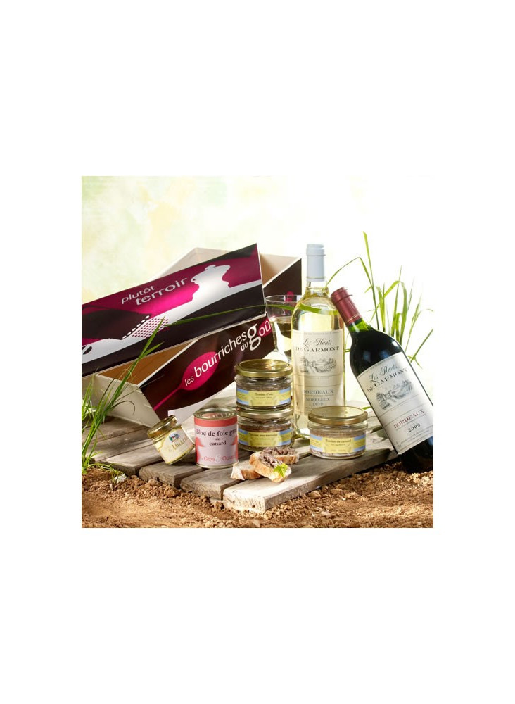 Panier Gourmand Côté de Bordeaux  publicitaire