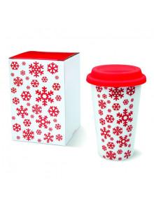 objet publicitaire - promenoch - Mug Double Paroi Design Noël  - Ambiance Noël