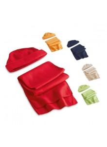 objet publicitaire - promenoch - Bonnet + Echarpe Polaire  - Bonnets personnalisé