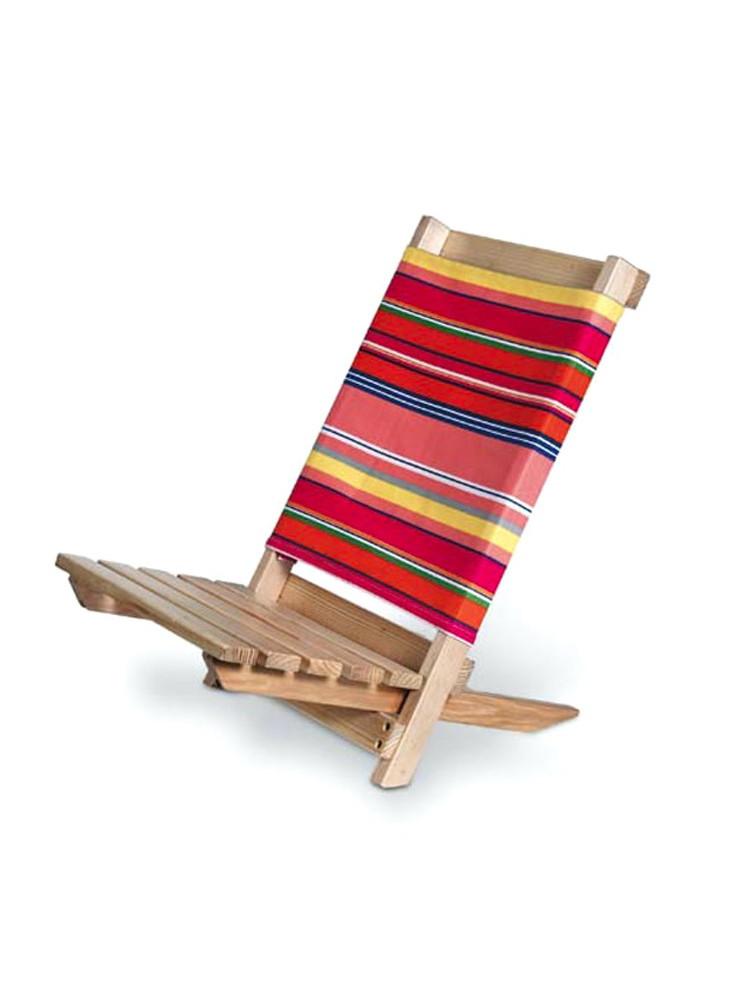 Chaise de plage bois  publicitaire