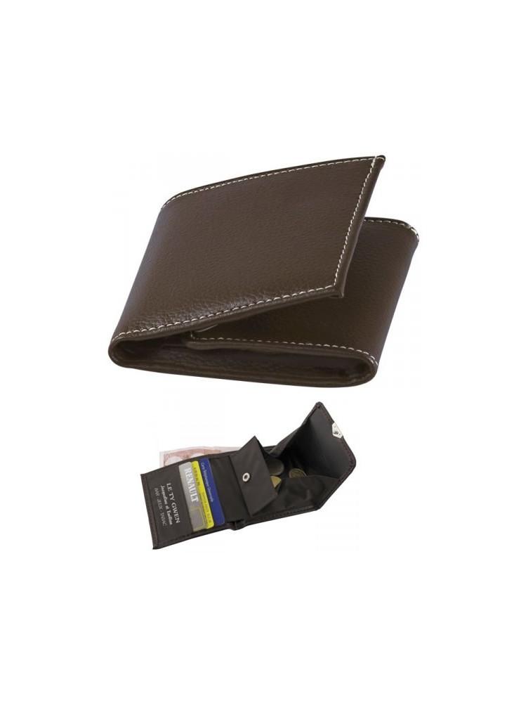 Porte-Monnaie cuir marron personnalisé  publicitaire