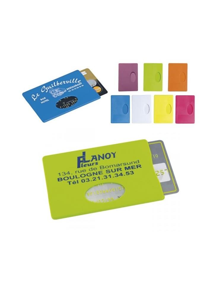 Etui Carte de crédit  publicitaire