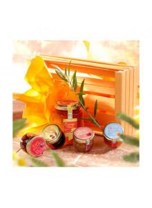objet publicitaire - promenoch - Panier Gourmand 5 Confitures  - Panier Gourmand