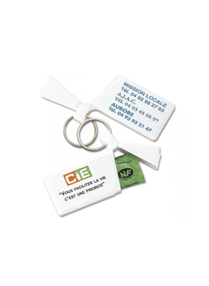 Porte-clés Préservatif  publicitaire
