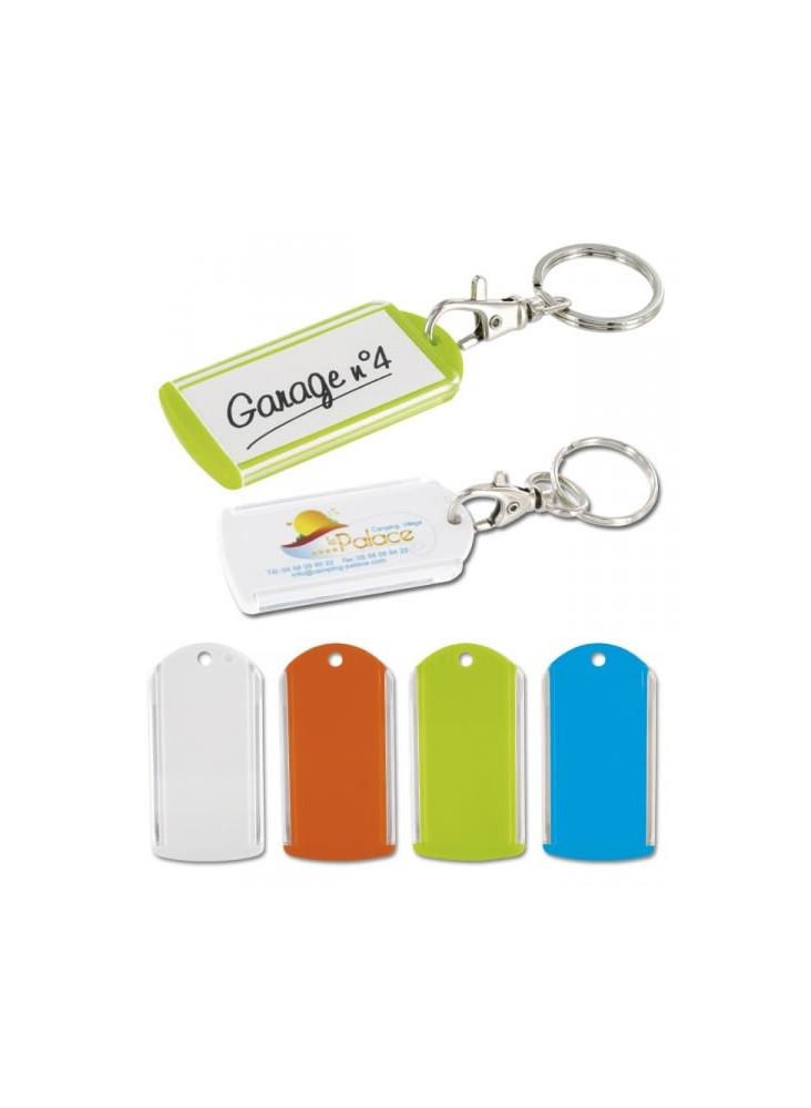 Porte-clés Porte Etiquette Mousqueton  publicitaire