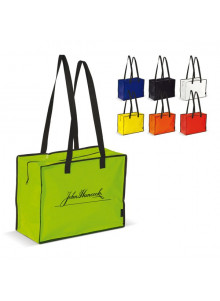 objet publicitaire - promenoch - Sac Shopping Fermeture Eclair  - Sac Shopping & Course