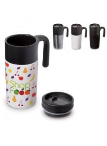 objet publicitaire - promenoch - Mug de Voyage Thermos 330 ml  - Mug Thermos Personnalisé