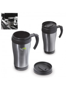 objet publicitaire - promenoch - Mug Métal Voiture 350 ml  - Mug Thermos Personnalisé