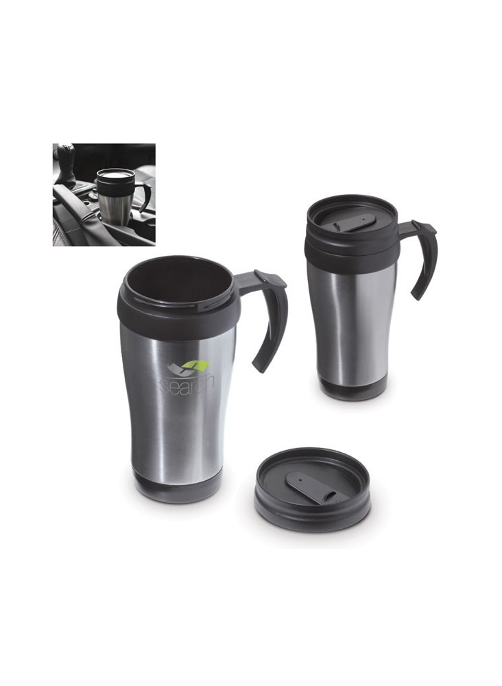 Mug Thermos de voyage Métal 350 ml  publicitaire