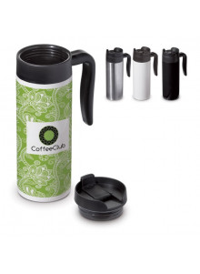 objet publicitaire - promenoch - Mug de Voyage Thermos 450 ml  - Mug Thermos Personnalisé