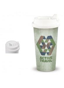 objet publicitaire - promenoch - Mug de Voyage Herméthique 450 ml  - Mug Thermos Personnalisé