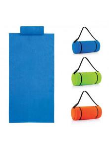 objet publicitaire - promenoch - Serviette de Plage avec Oreiller personnalisable  - Serviettes de plage