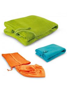 objet publicitaire - promenoch - Drap de bain + Sac Nylon  - Serviettes de plage