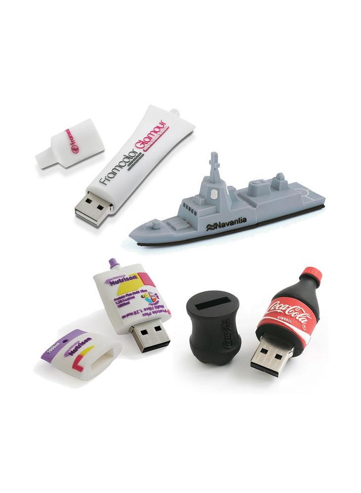 Clé USB 3D sur mesure  publicitaire