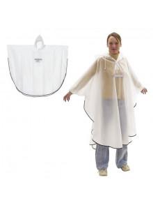 objet publicitaire - promenoch - Poncho Blanc Imperméable  - Poncho Personnalisé