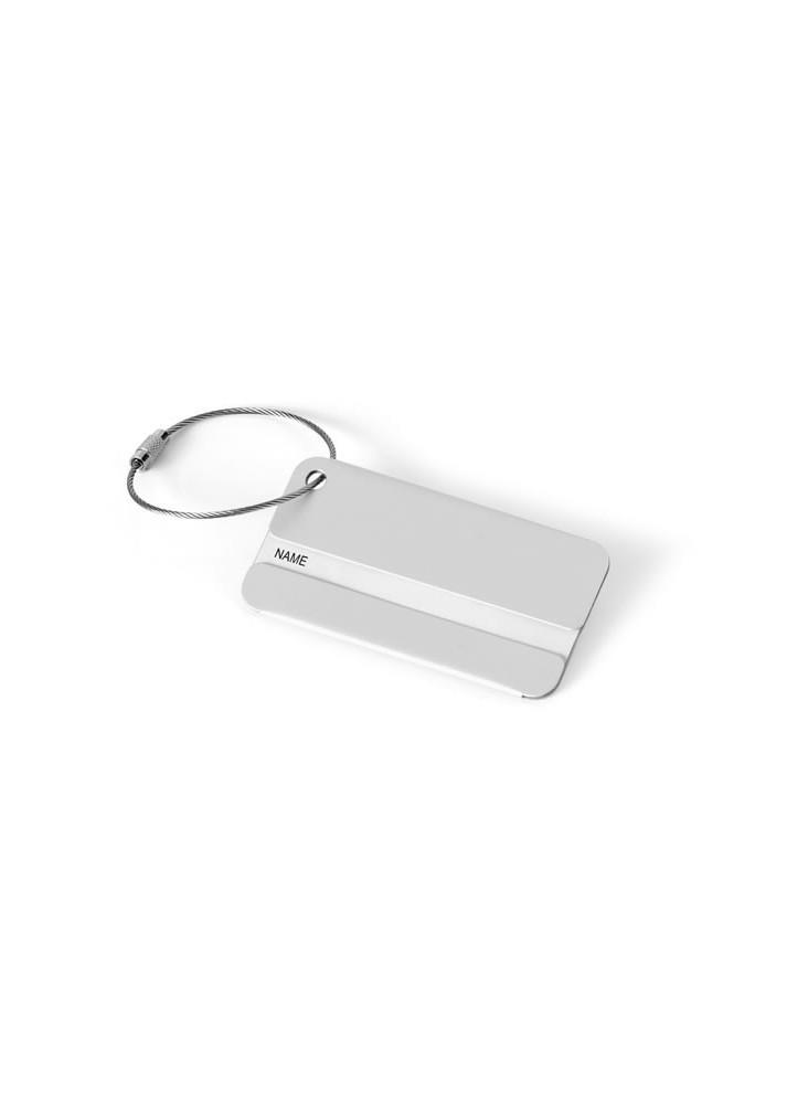 Etiquette Bagage Aluminium  publicitaire