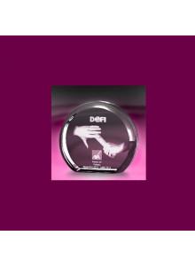 objet publicitaire - promenoch - BLOC DE VERRE DEMIE-LUNE  - Cristal - Verre lumineux