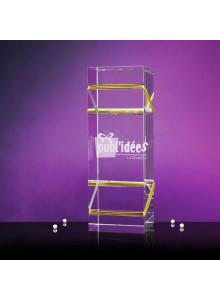 objet publicitaire - promenoch - TROPHÉE PODIUM  - Cristal - Verre lumineux