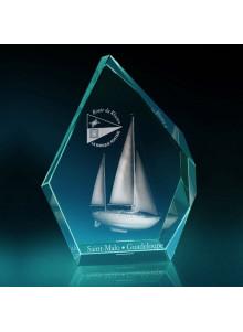 objet publicitaire - promenoch - TROPHÉE PRESTIGE  - Cristal - Verre lumineux