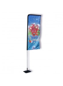 objet publicitaire - promenoch - Beach Flag Potence - Kit Complet  - Beach Flag Roll Up Stand