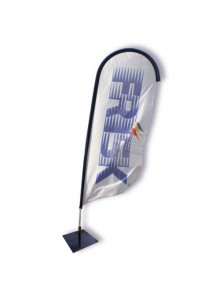 objet publicitaire - promenoch - Beach Flag Azur II - Kit Complet  - Beach Flag Roll Up Stand