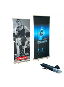 objet publicitaire - promenoch - Roll-Up Kakemono  - Beach Flag Roll Up Stand