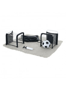 objet publicitaire - promenoch - Ballon Football + Cage Mini But  - Jeux de plage & piscine