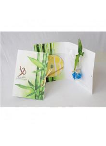 objet publicitaire - promenoch - Canne chinoise en carte avec CD  - Plantes Personnalisés
