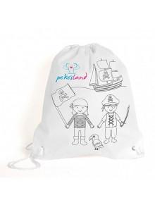 objet publicitaire - promenoch - Sac enfant avec crayons  - Sac à Dos Enfant