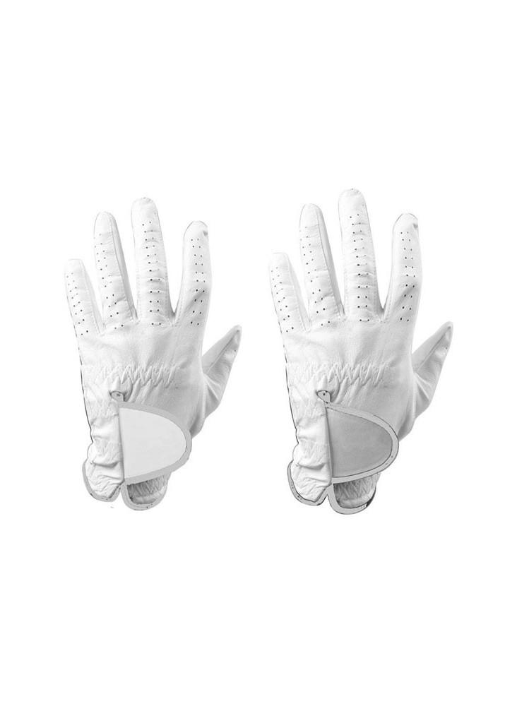 Gants de golf en cuir blanc  publicitaire