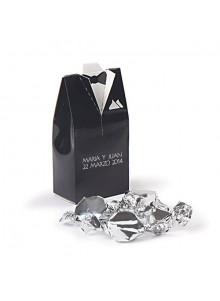 objet publicitaire - promenoch - Boite de mariage Alvin en carton  - Cadeau Mariage Personnalisé