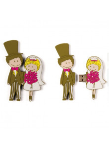 objet publicitaire - promenoch - Clé USB mariage  - Cadeau Mariage Personnalisé