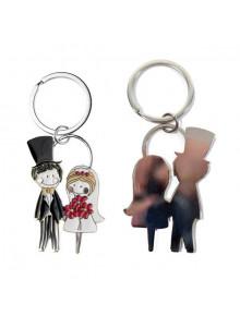 objet publicitaire - promenoch - Porte-clés mariés  - Cadeau Mariage Personnalisé