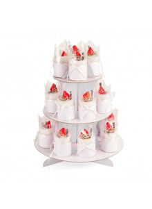 objet publicitaire - promenoch - Présentoir à gâteau spécial mariage  - Cadeau Mariage Personnalisé